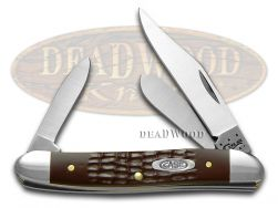 Case xx Medium Stockman Knife Jigged Brown Delrin Stainless Pocket Knives 00217