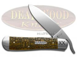 Case xx Russlock Knife Stone Wall Antique Bone 1/500 Stainless Pocket Knives