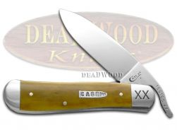 Case xx Russlock Knife Smooth Antique Bone 1/500 Stainless 21965 Pocket Knives