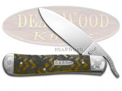Case xx Russlock Knife Hummingbird Antique Bone Scrolled 1/200 Pocket Knives