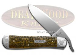 Case xx Russlock Knife Stone Wall Antique Bone Scrolled 1/200 Pocket Knives