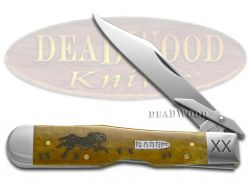 Case xx Cheetah Knife Running Cheetah Antique Bone 1/500 Stainless Pocket Knives