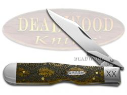 Case xx Cheetah Knife Diamondback Antique Bone 1/500 Stainless Pocket Knives