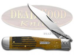 Case xx Cheetah Knife USA Flag Antique Bone 1/500 Stainless Pocket Knives