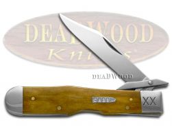 Case xx Cheetah Knife Smooth Antique Bone 1/500 Stainless 21967 Pocket Knives