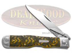 Case xx Cheetah Knife Scrolled Hummingbird Antique Bone 1/200 Pocket Knives