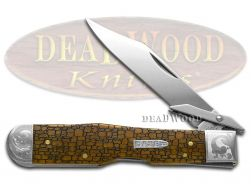 Case xx Cheetah Knife Scrolled Stone Wall Antique Bone 1/200 Pocket Knives