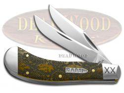 Case xx Saddlehorn Knife Diamondback Rattlesnake Antique Bone 1/500 Stainless