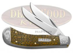Case xx Saddlehorn Knife Stone Wall Antique Bone Scrolled 1/200 Pocket Knives