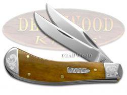 Case xx Saddlehorn Knife Scrolled Smooth Antique Bone 1/300 Pocket Knives
