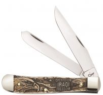 Case xx Trapper Knife Operation Iraqi Freedom Natural Bone Stainless 22034