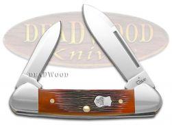 Case xx Butterbean Knife Barnboard Chestnut Bone Stainless Pocket Knives 22873