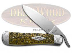 Case xx Russlock Knife Lizard Skin Yellow Bone Scrolled 1/200 Pocket Knives