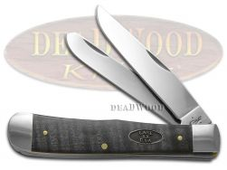 Case xx Trapper Knife Black Curly Maple Wood Stainless Pocket Knives 23350