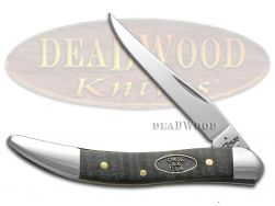 Case xx Toothpick Knife Black Curly Maple Wood Stainless Pocket Knives 23357