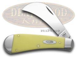 Case xx Smooth Yellow Delrin Hawkbill CV Pocket Knife 23 Knives