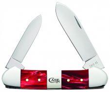 Case xx Canoe Knife Red Pearl Kirinite Center Bolster Stainless 25276 Knives