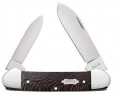 Case xx Canoe Knife Black Sycamore Wood Stainless 25574 Pocket Knives