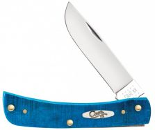 Case xx Sodbuster Jr Knife Sawcut Caribbean Blue Bone Stainless 25590 Pocket