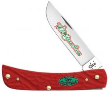 Case xx Christmas Sodbuster Jr. Knife Jigged Red Delrin Stainless Pocket 25677