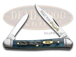Case xx Mini Copperhead Knife Denim Blue Bone Pocket Worn 20th Anniversary 26299