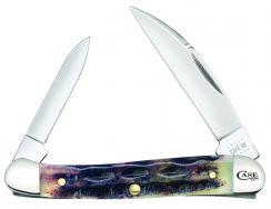 Case xx Mini Copperhead Knife Deep Canyon Jigged Light Purple Bone 27161