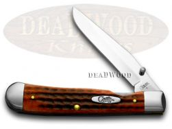 Case xx Trapperlock Knife Pocket Worn Jigged Red Bone Stainless Pocket 02743