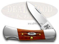 Case xx Small Lockback Knife Pocket Worn Jigged Red Bone Stainless Pocket 02758
