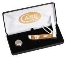 Case xx Golf Gift Set Mini Trapper Knife Antique Bone 27820 Ball Marker