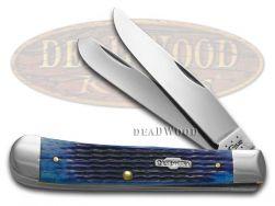 Case xx Trapper Knife Rogers Corn Cob Jigged Blue Bone Stainless Pocket 02800