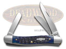 Case xx Medium Stockman Knife Rogers Corn Cob Jigged Blue Bone Stainless 02801