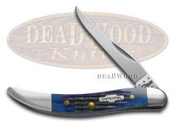 Case xx Toothpick Knife Rogers Corn Cob Jigged Blue Bone Stainless Pocket 02804
