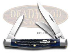 Case xx Med Stockman Knife Rogers Corn Cob Jigged Blue Bone Stainless 02806