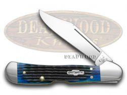 Case xx Mini Copperlock Knife Rogers Corn Cob Jigged Blue Bone Stainless 02864