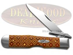 Case xx Chestnut Bone Cheetah Knife Diamond Pattern Stainless Pocket Knife