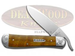 Case xx Russlock Knife Curly Oak Wood Scrolled 1/300 Stainless Pocket 29809