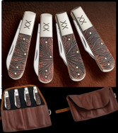 Case xx Gentlemen's 4-Knife Barlow Set Colorwash Chestnut Bone 1/250 30470