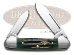 Case xx Butterbean Knife Jigged Hunter Green Bone Stainless Pocket Knives 30953