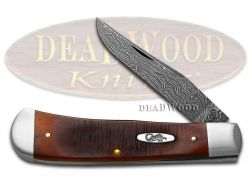 Case xx Backpocket Knife Damascus Sawcut Chestnut Bone 1/500 Pocket Knives 31302