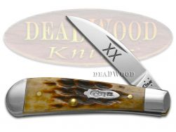 Case xx Sway Back Gent Knife Jigged Molasses Bone Stainless Pocket Knives 31637