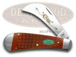 Case xx Red Jigged Bone Christmas 1/600 Hawkbill Pocket Knife 32602 Knives