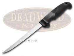 "Case xx Kitchen Cutlery Hunter's 6"" Fillet Knife Black Synthetic Stainless 00342"
