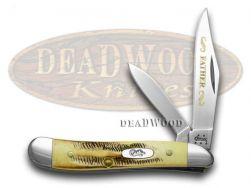 Case xx Father Peanut Knife Genuine 6.5 Bone Stag 1/500 Stainless Pocket Knives