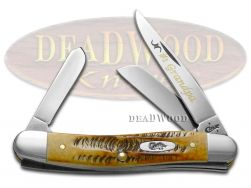 Case xx No. 1 Grandpa Medium Stockman Knife 6.5 Bone Stag 1/500 Stainless Pocket