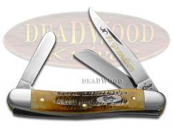 Case xx No.1 Grandson Medium Stockman Knife 6.5 Bone Stag 1/500 Stainless Pocket