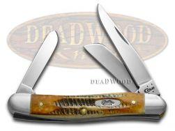 Case xx Medium Stockman Knife 6.5 Bone Stag Handle Stainless Pocket Knives 03578