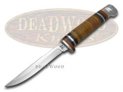 Case xx Small Fixed Blade Hunter Knife Polished Leather Handle Stainless 00379