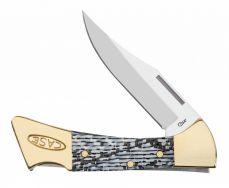 Case xx Mako Lockback Knife Black & White Carbon Fiber Stainless Pocket 38927