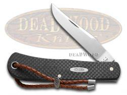 Case xx Backpocket Knife Black Carbon Fiber Handle Stainless Pocket Knives 42945
