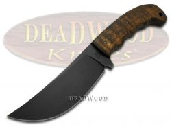 Case xx Winkler Hambone Fixed Blade Knife Curly Maple Wood Carbon Steel 43180